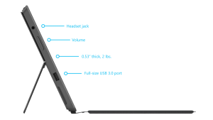 Surface Pro 2 profile view