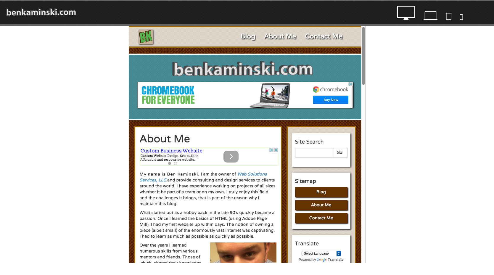 Responsive Website Preview Page