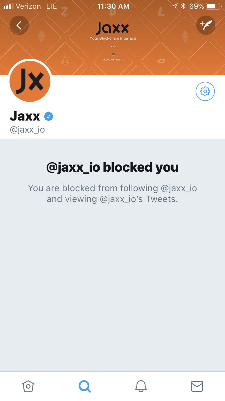 Image showing Jaxx Ban of my Account on Twitter